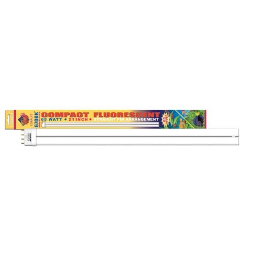 - Coralife 05496 Actinic Straight Pin Compact Fluorescent Lamp, 65-Watt
