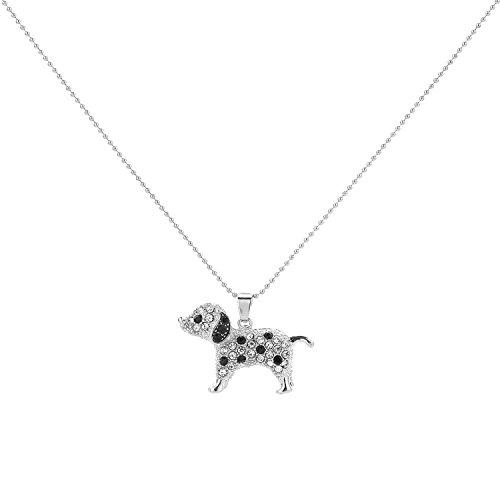 LUREME Animal Jewelry Lovely Spotty Dog Pendant
