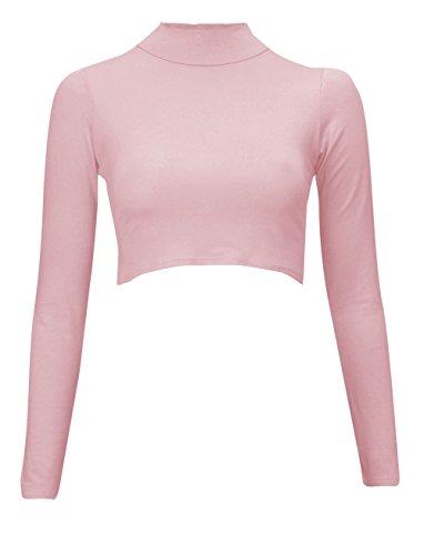 Baleza - Camiseta de manga larga - Básico - para mujer rosa pastel