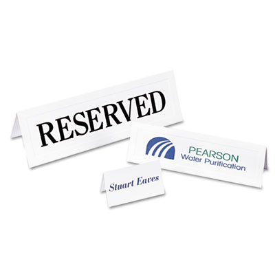 Avery® - Tent Cards, White, 2 1/2 x 8 1/2, 2 Cards/Sheet, 100 Cards/Box - Sold As 1 Box - Create custom tent cards on your laser or inkjet printer.