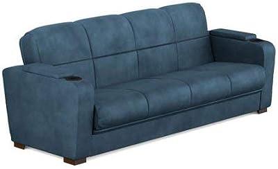 Amazon Com Baxton Studio Dobson Leather Modern Sectional