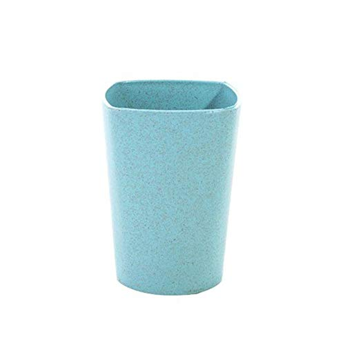 Hot Sale!DEESEE(TM)1 PC HOT Travel Mug Office Coffee Tea Water Bottle Cups Straw Wheat Plastic Cup (Green)