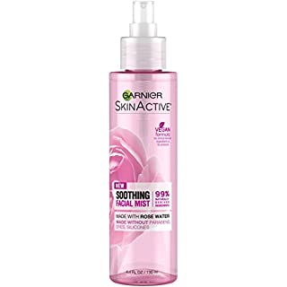 Garnier SkinActive Facial Mist Spray with Rose Water, 4.4 Fl Oz (Pack of 1)