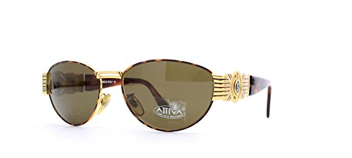 Fendi 7033 123 Brown and Gold Authentic Women Vintage Sunglasses