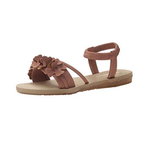zitan Womens Flatform Espadrille Strappy Open Toe Flat Platform Ankle Sandals Sweet Flat Beach Summer Shoes