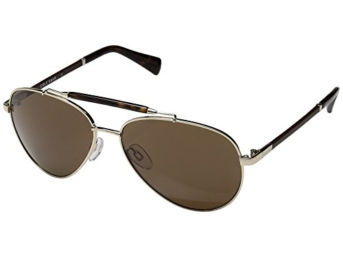 Cole Haan Men's Ch6002s Aviator Sunglasses, Gold, 59 - Cole Haan Sunglasses Aviator