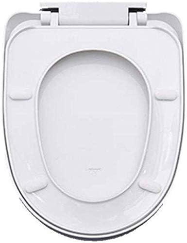 CXMWYトイレのふた Uが便座ホワイトの形状は抗菌PPボードと便座は、34.5 * 41〜43.5センチメートルをミュートウルトラ耐性トップマウントトイレのふたをスローダウン