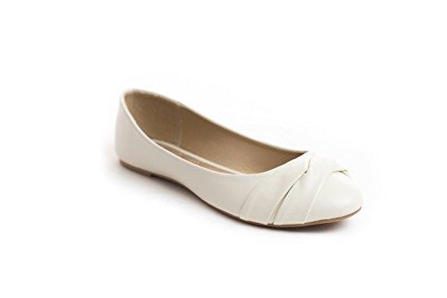 Soho Schoenen Dames Casual Platte Slip Op Ballet Loafers Comfy Flats Us Maat 6-11 Creme