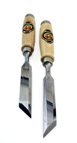 Two Cherries Chisels - Two Cherries 500-1920 Pair of 20mm Two Cherries Skew Bevel Wood Chisels