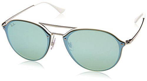 - Ray-Ban 0rb4292n671/3062blaze Doublebridge Non-Polarized Iridium Square Sunglasses, White, 62 mm