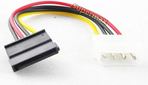 Computer Cables 18CM 15 Pin SATA Male to Molex IDE 4 Pin Female Adapter Extension Power Cable Cable Length: 18cm, Color: 100pcs