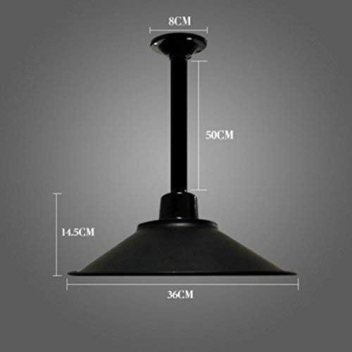 Pantalla de hierro de estilo industrial de personalidad simple (negro clásico) (Tamaño: (B) Diámetro: 36 cm): Amazon.es: Iluminación