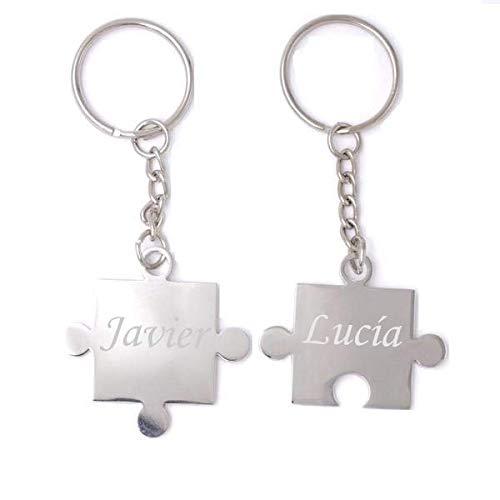 LLavero personalizado parejas - Plata - Puzzle - Bölbo ...