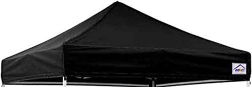 Impact 10 x 10 Canopy Cover, Pop-Up Canopy Tent Cover, Waterproof Commercial Grade, Replacement Canopy Cover Only, Black