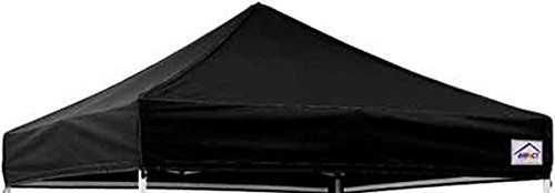 Impact Canopy 10' x 10' Pop-Up Canopy Tent Cover, Replacement Gazebo Shelter Tent Cover, Black