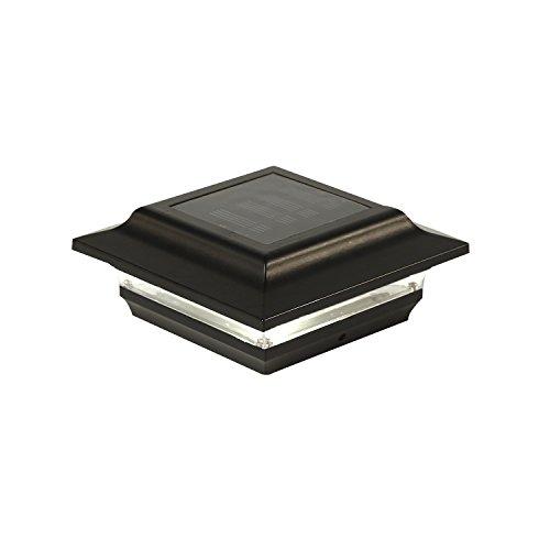 (Classy Caps SL211B 4X4 Black Aluminum Imperial Solar Post Cap, 4