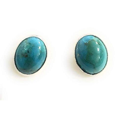 Beautiful Navajo turquoise and Sterling Silver Studs from Nizhoni Traders LLC