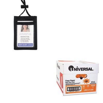 KITAVT75453UNV21200 - Value Kit - Advantus ID Badge Holder w/Convention Neck Pouch (AVT75453) and Universal Copy Paper (UNV21200)