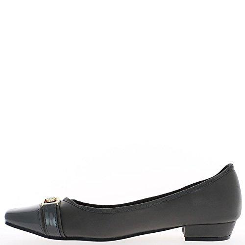 Zapatos gris grande tamaño del talón 2.5cm uñas postizas