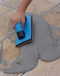 TROXELL USA 9'' x 4'' Gum Rubber Grout Float with SoftGrip Handle