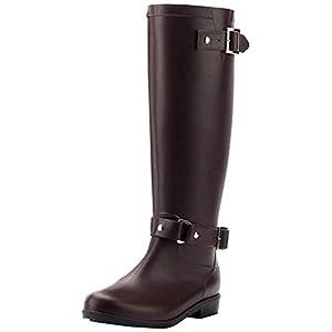 AONEGOLD Bottes de Pluie Femme Wellington Boots Imperméable Ajustable Boucle Zip Bottes en Caoutchouc Rain Boot