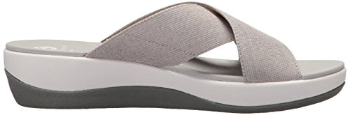 CLARKS Womens Arla Elin Sandal, Sand Heathered Textile, 6 Medium US