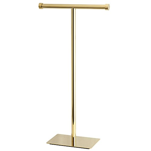 Kingston Brass CC8102 Claremont Freestanding Toilet Paper Holder, 22-3/4-Inch, Polished - Brass Paper Toilet Stand