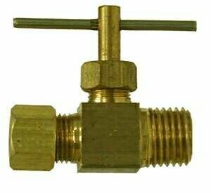 Midland Metal 46002 Brass 1/4 X 1/8 Comp X M Needle Valve (Pack Of 10) from Midland Metal
