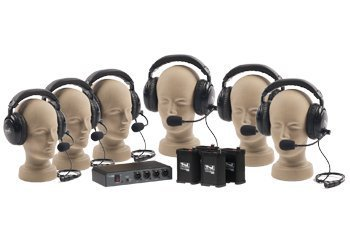 Anchor Audio COM-60FC PortaCom Wired Intercom Package - 6 Users, Cables Not Included ()