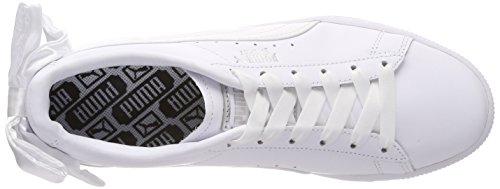 Femme White Wn's puma Puma Sneakers Basket White Blanc Bow Basses Puma gTqAXT