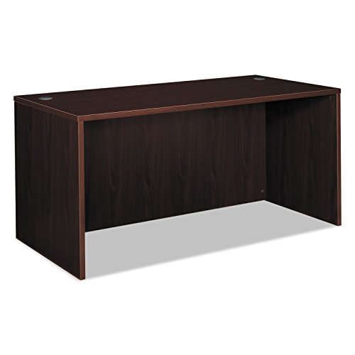 basyx by HON BL Laminate Series Office Desk Shell - Rectangular Desk Shell, 60w x 30d x 29h, Mahogany (HBL2103) by basyx by HON