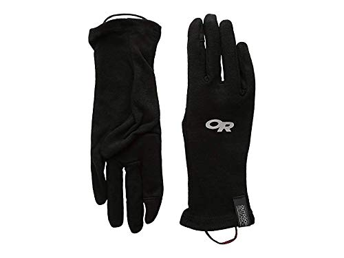 Outdoor Research Woolly Sensor liners Gloves, Black, - Merino Glove Liner