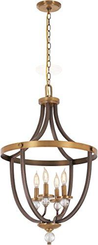 Minka Lavery Foyer Chandelier Pendant Lighting 4734-113 Safra Dining Room Fixture, 4-Light 240 Watts, Bronze