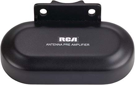 RCA TVPRAMP1R Preamplifier for Outdoor Antenna Performance Enhancement & Extension (use with ANT3038XR & ANT3036XR), Black, Model: TVPRAMP1R, Electronic Store (Best Tv Antenna Preamplifier)