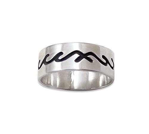 Firebird Jewelers Navajo Sterling Silver Overlay Band Ring Size - Sterling Overlay Navajo Silver