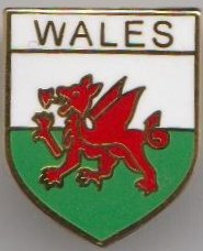 Wales Welsh Dragon Shield Flag (Welsh Shield)