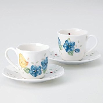 Lenox Butterfly Meadow Espresso Cup And Saucer Set of 2 ()