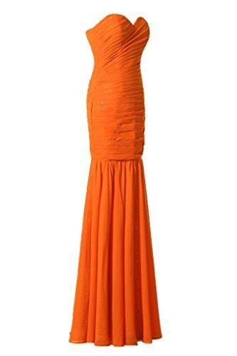 E da da Arancione Chiffon Paillette forma Mermaid sera un'ampia a Ivydressing di dell'abito cuore vestito facile Bete 4Tq6r5wnW4