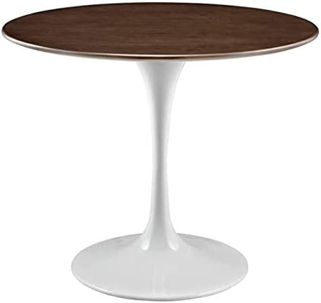 Modern Mid Century Round Tulip Marble Wood top Dining Table 42
