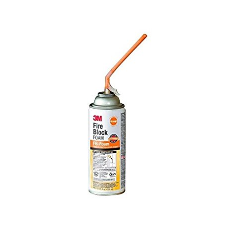 - 3M Fire Block Foam FB-Foam, Orange, 12 fl oz, Aerosol Can
