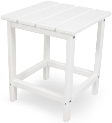 POLYWOOD ECT18WH Long Island 18 Side Table, White