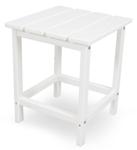 POLYWOOD ECT18WH Long Island 18″ Side Table, White