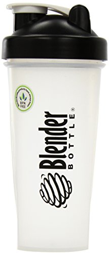 Blender Bottle Protein Shaker with BlenderBall Portable Mixer 28oz Shaker Bottle (Set of 2 Black!)