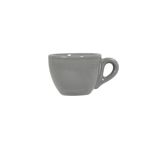 NOVASTYL Ibiza 8011759 Lot 6 Tasses 8cl Espresso - Gris - Faience 3164225710667