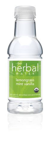 Ayala's Herbal Water, Lemongrass Mint Vanilla, 16 Ounce (Pack of 12)