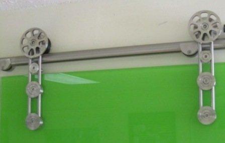 Palermo Modern Stainless Steel Interior Barn Glass Door Hardware Track Set