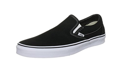 Vans Unisex Classic Slip-On (Italian Weave) Skate Shoe Black/White Canvas cheap pre order fctW5LoWu
