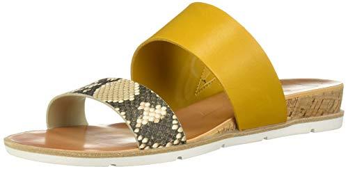 Dolce Vita Women's VALA Wedge Sandal Snake Print Embossed Leather 8 M US