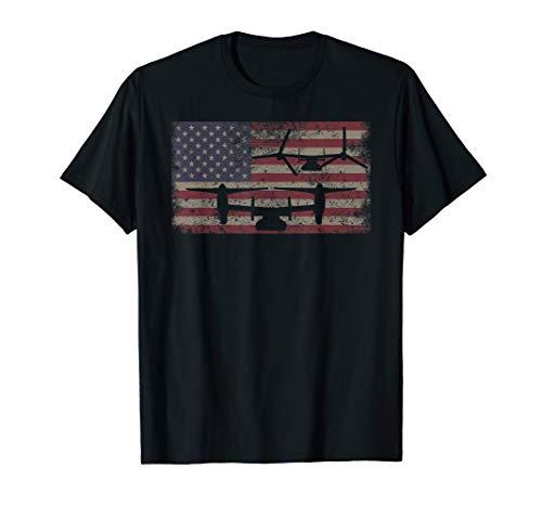 V-22 Osprey VTOL Plane American Flag T-Shirt Gift for sale  Delivered anywhere in USA
