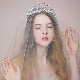 FLOW ZIG Women's Rhinestone/Crystal/Alloy Headpiece - Wedding/Special Occasion Tiaras 1 Piece